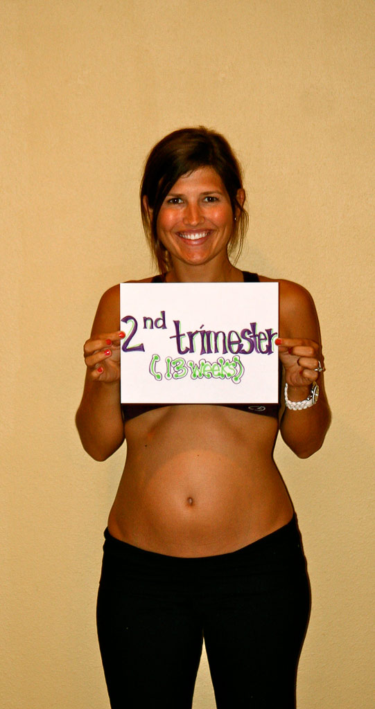 13 week baby bump