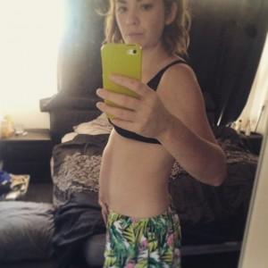 17 week belly