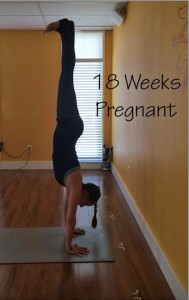 pregnant handstand