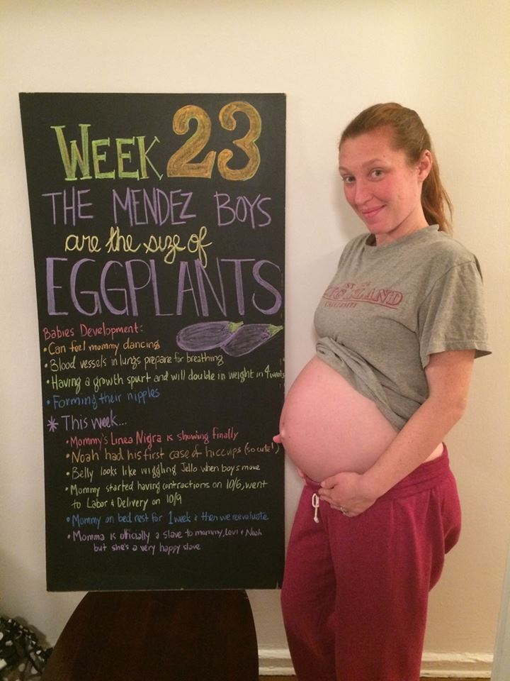 twin pregnancy at 23 weeks