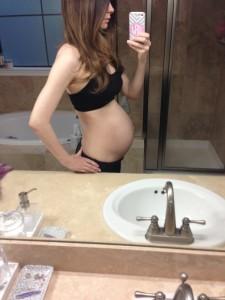 baby bump at 29 weeks