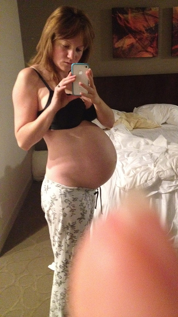 View from 30 week pregnant belly