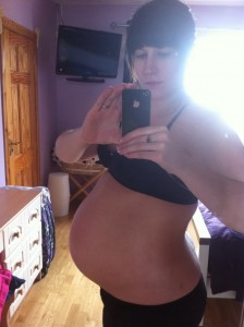 getting hugely pregnant