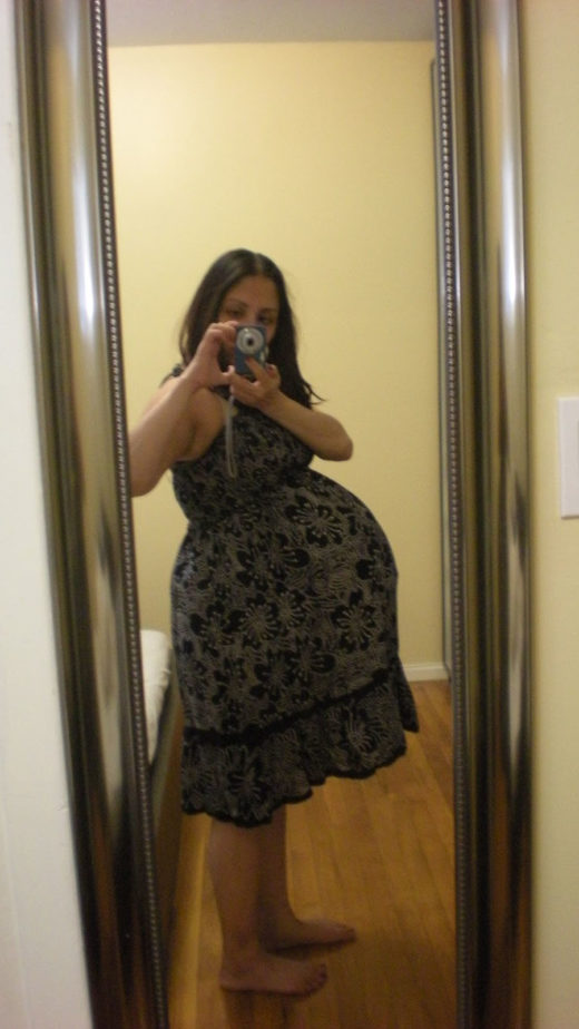 How big is a twin belly at 37 weeks?