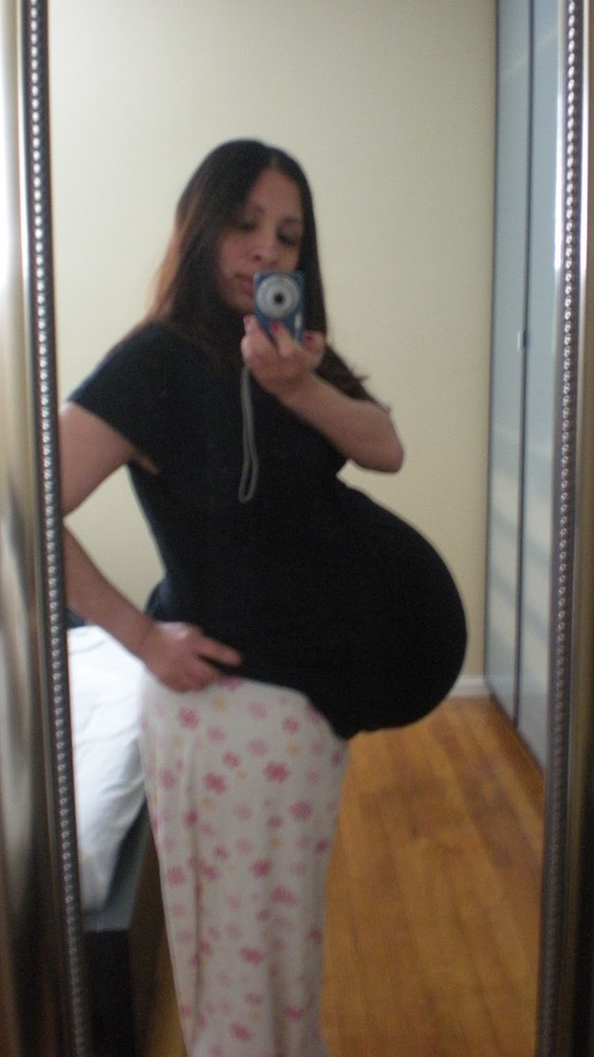How big is a twin belly at 38 weeks?