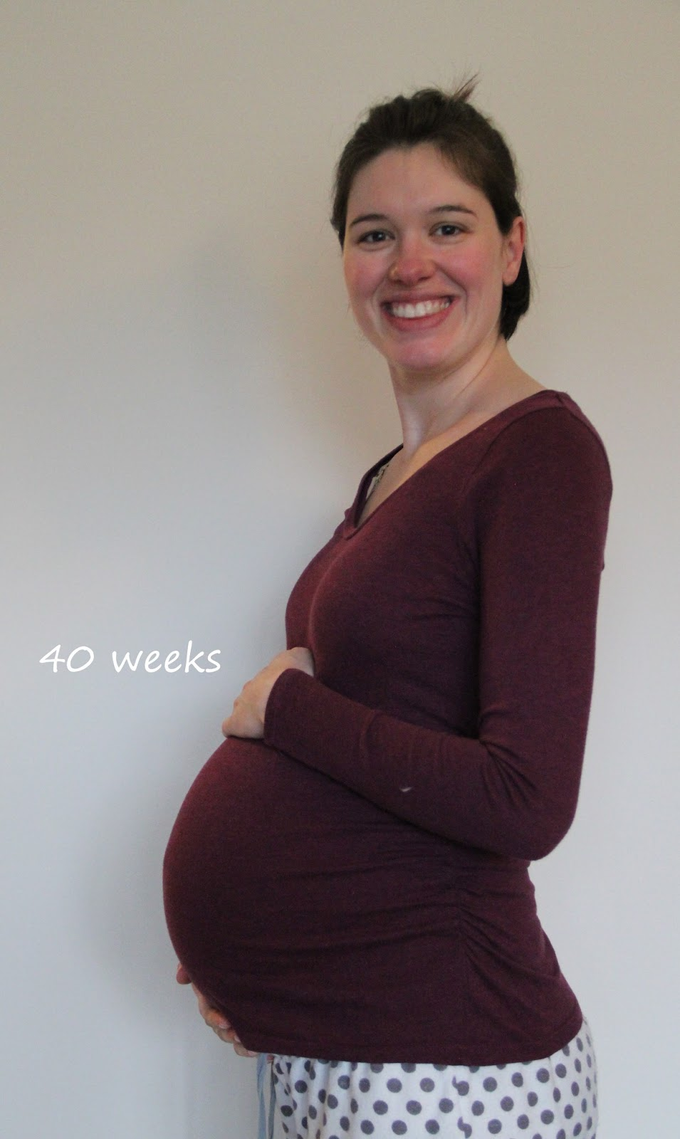 40 week belly bump