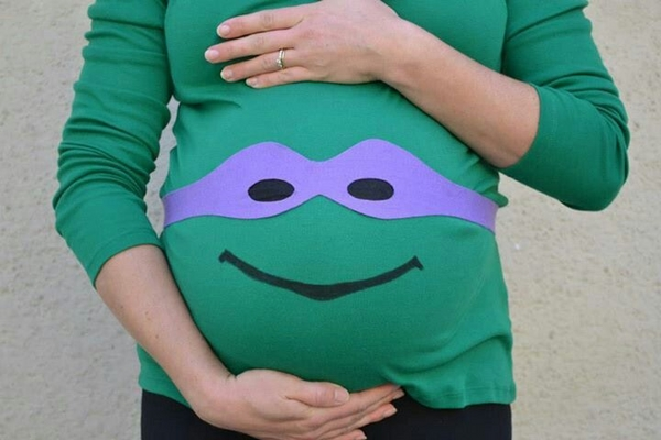 TMNT Maternity Halloween Costume: 6 Steps (with Pictures)