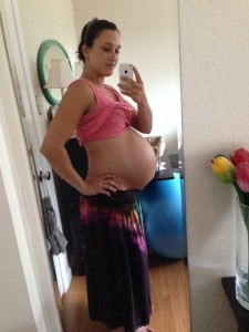 8 and a half months pregnant