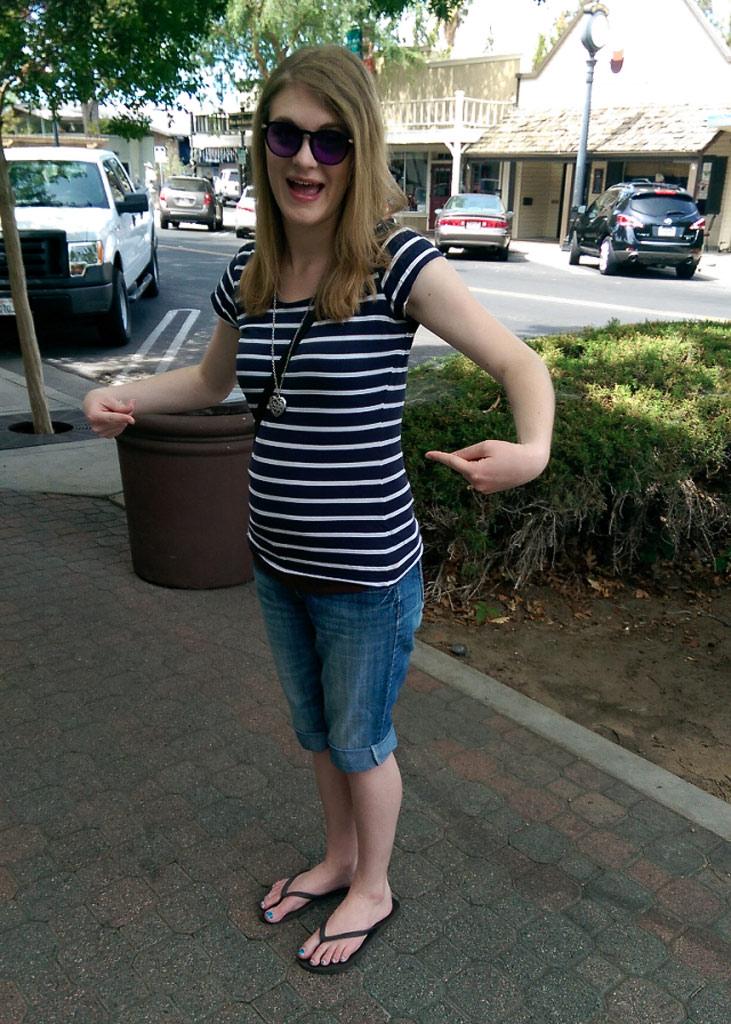 17 week baby bump