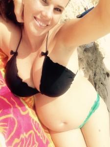pregnant bikini selfie