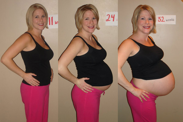 Charming pregnant belly progression