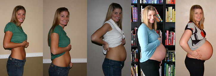 Pregnant belly progression