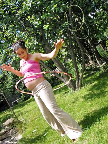 pregnant hula hooper
