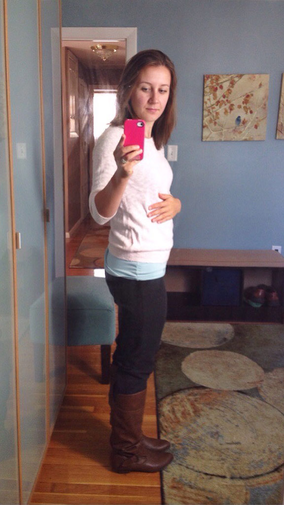 6 week baby bump