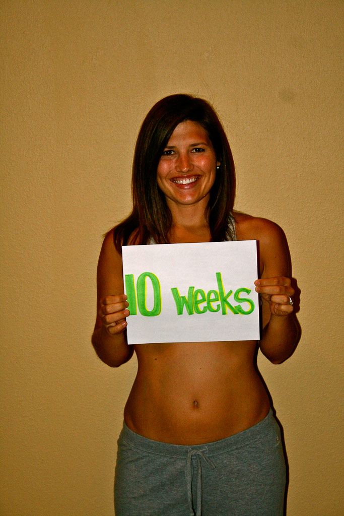10 week baby bump