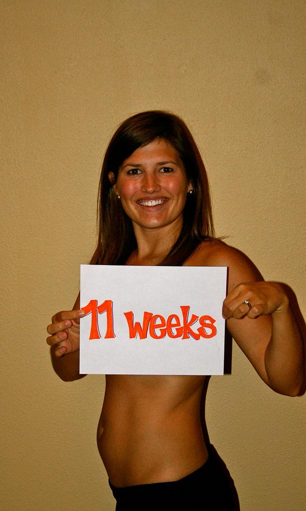 11 week baby bump