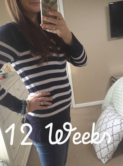 12 week pregnant belly