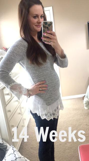 14 weeks pregnant belly