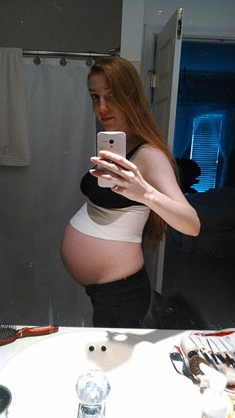 35 week belly pic