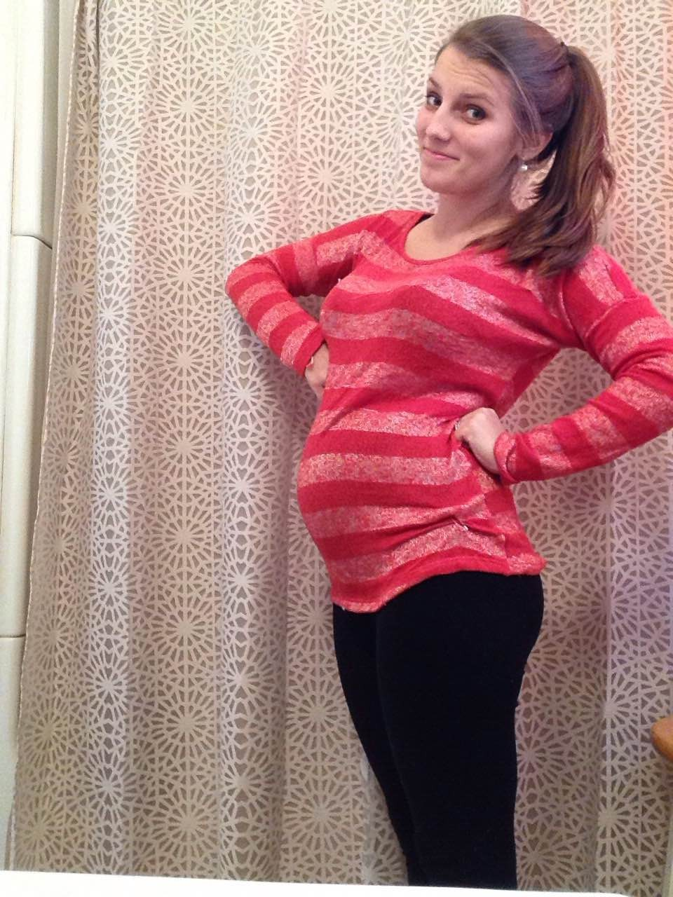 showing 19 weeks pregnant