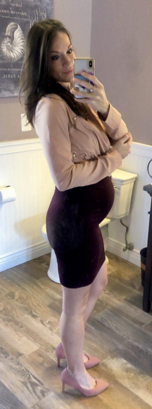 Jill 29 weeks pregnant 1st baby girl.